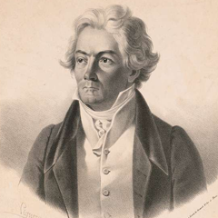 Old illustration of Ludwig Van Beethoven lookingslighty to the right.