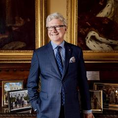 An image of His Excellency the Honourable Paul de Jersey AC CVO inside Government House.