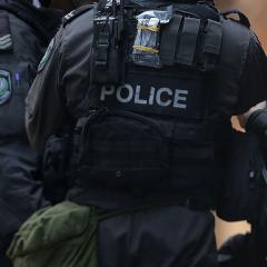 An image of armed police officers