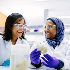 An image of UQ's Associate Professor Yasmina Sultanbawa with colleague.