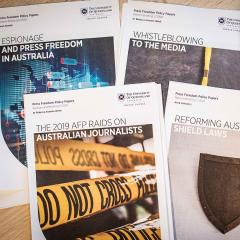 An image of UQ Press Freedom Policy Papers.