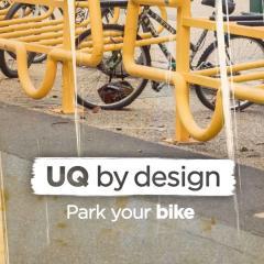 UQ by design 'park your bike' logo