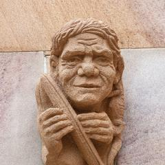 An image of the grotesque of Gairbau at UQ St Lucia.